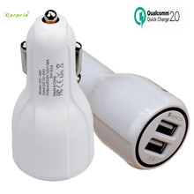 CARPRIE Hot Product Qualcomm Certificated QC2.0 Dual USB Car Charger Quick Charge Adapter For Phones car usb charger(China)