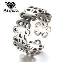 Thailand Silver Jewelry Rings Vintage Bowknot Flowers 925 Silver Rings For Women