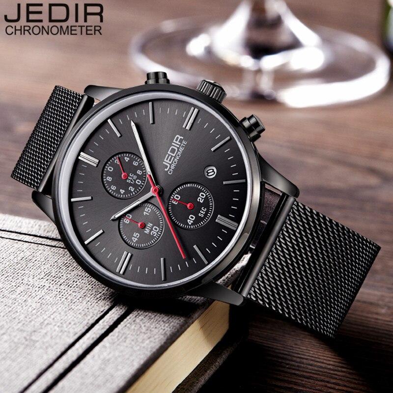 Watches Men JEIDR Brand Chronograph Fashion Men Sport Watches Stainless Steel Mesh Band Quartz-Watch Thin Dial Man Casual Clock<br><br>Aliexpress