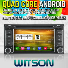 WITSON S160 CAR DVD for TOYOTA RAV4 COROLLA VIOS HILUX Terios AVANZA GPS Quad Core Android 4.4.4+1024X600 HD+16G Flash+PIP+WIFI