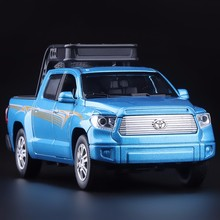 High Simulation Exquisite Model Toys Double Horses Car Styling TOYOTA TUNDRA Pickup Trucks Model 1:32 Alloy Car Model Best Gift