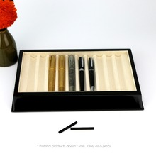 Wooden Pen display Pencil Holder case 10 piece pen tray wood Deluxe packing box for pens