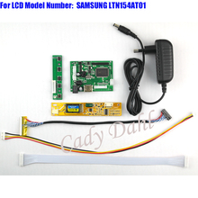 HDMI Controller Board + Backlight Inverter + 30P Lvds Cable + Adapter Kit for LTN154AT01 1280x800 1ch 6 bit LCD Display Panel