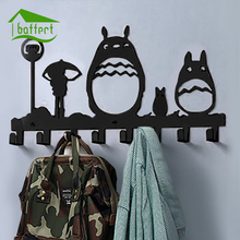 Cute Metal Iron Hook Wall Door Clothes Key Coat Hat Hanger Towel Holder Hooks Hangers with 6 Hooks Kitchen Bathroom Organizer(China)