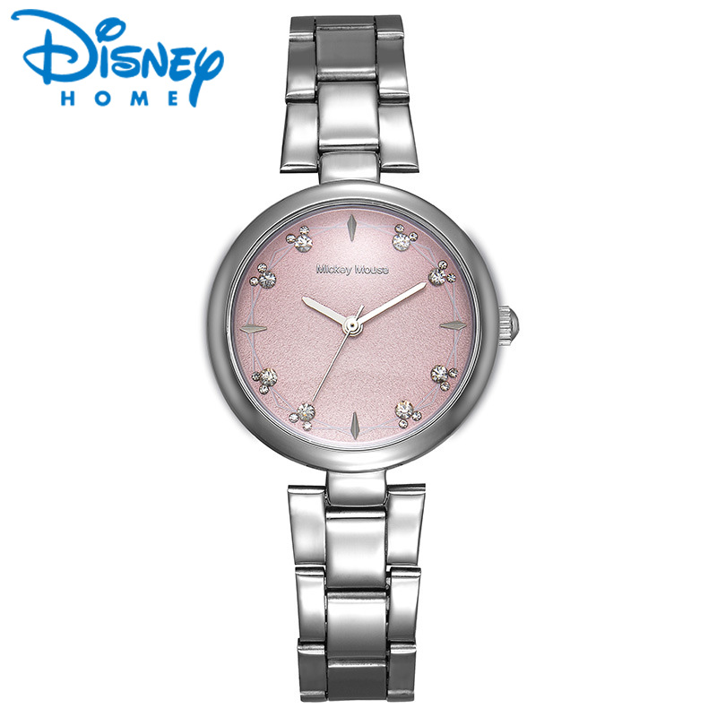 Disney Womens Watches Gold Silver Steel Quartz Wristwatch for woman Fashion Top Brand Luxury Watches Women Ladies Watch horloge<br>