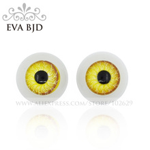 12mm Diameter Eyeball Eye Eyes Yellow Color for BJD Doll jointed dolls replacement eyeballs 1 pair 2 pcs Accessories DAE003-02(China)