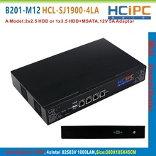 HCiPC B201-M12 HCL-SJ1900-4LA, BayTrail 82583V 4LAN Mini Firewall Barebone,4LAN Mini Router,Mini PC,4LAN Motherboard(China)