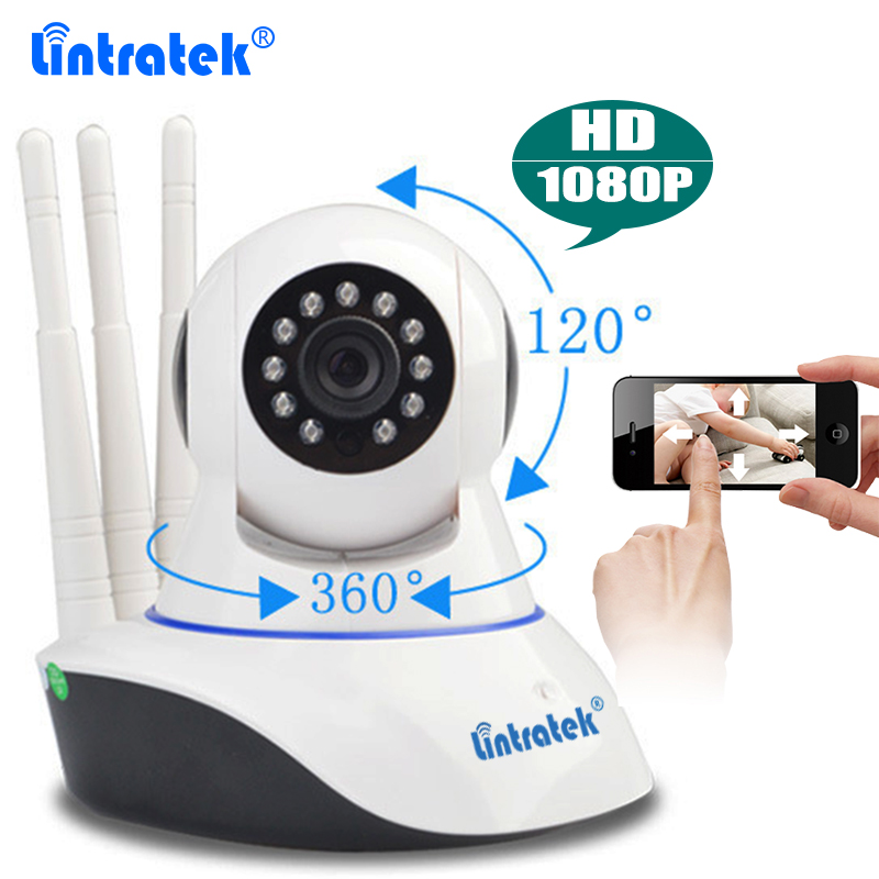 Lintratek CCTV Security Wireless Camera HD 1080P Wifi IP Camera Baby Monitor Pan Tilt IR Night Vision Yoosee P2P Remote Control<br>