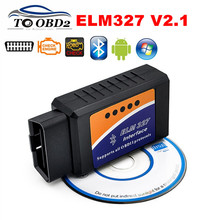 Vehicle Automotive Tester ELM327 OBD2 Tool Wireless Bluetooth For Android/Symbian/Windows Latest V2.1 ELM 327 BT Check Engine(China)