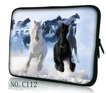 "Hot Runing Horse 9.7"" 10.1"" 11.6"" 12"" 13.3"" 14"" 15"" 15.6"" Laptop Sleeve Bag Case Pouch For HP Dell Sony ASUS Lenovo ThinkPad(China)"