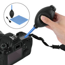 New 3 in1 Cleaner Kit Lens Cleaning Cloth+Clean Lens Dust Brush+Air Blower for Canon Nikon Sony Camera Camcorder DSLR VCR Watch