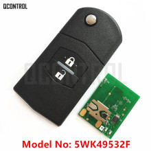 QCONTROL Car Remote Key Work for MAZDA 5WK49532F for M2 Demio M3 Axela M5 Premacy M6 Atenza M8 MPV 433MHz 4D63 Optional(China)
