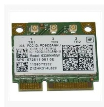 Network Card for Intel Ultimate-N 6300 633ANHMW 6300AGN half Mini PCI-E 2.4G/5GHZ Wireless card for HP G4 G6 DV4 SPS: 572511-001