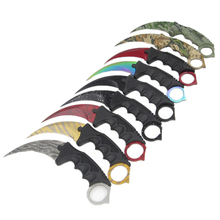 CS GO counter strike hawkbill tactical claw karambit neck knife real combat fight camp hike outdoor self defense offensive(China)