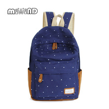 New Arrival Fashion Unisex Dot Printing Backpack School Book Backpacks Shoulder Bag Casual Stylish