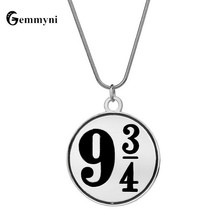 HP Hogwarts Express Nine&Three-Quarter 9 3/4 Logo Personalized Number Necklaces Charms Coin Custom Fashion Trendy Jewelry
