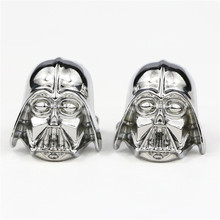 New design  Star wars knigt mask  logo suit shirt cufflinks for men jewelry  antique silver plated cufflinks top sale products