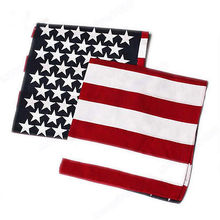 5pcs/lot New Fashion Unisex US Flag Scarves Bandanas Hip-hop Dance Travel Head Scarf Christmas Gifts