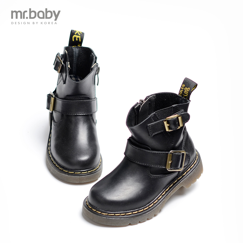 mr.baby 2017 children Leather boots Boys and girls child boots <br>