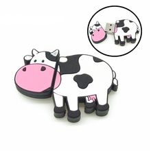 4gb 8gb 16gb 32gb cartoon Dairy Cow usb flash drive disk mini computer gift memory stick pendrive Pen drive personalized(China)