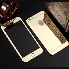 Front Rear Premium Tempered Mirror Glass Electroplating for font b iphone b font 6 plus font