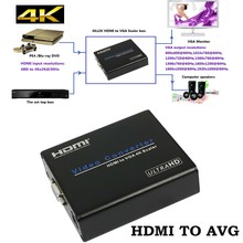 4Kx2K 1080P HDMI to VGA Adapter Digital to Analog Video Audio Converter HDMI Adapter Box for CRT/LCD/LED monitor HDTV Projector