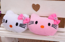 2Colors- Kawaii NEW 4.5CM Little Bowknot Hello Kitty Stuffed Plush Toy Doll ;  Gift Wedding Bouquet TOY