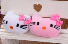 2Colors- Kawaii NEW 4.5CM Little Bowknot Hello Kitty Stuffed Plush Toy Doll ; Gift Wedding Bouquet TOY(China)