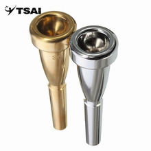 TSAI Stainless Steel 3C Trumpet Mouthpiece  For Yamaha For Bach Metal High Register And C Trumpet Accessories Two colors New