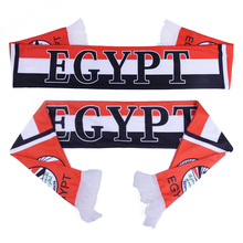 Russia World Cup 2018 Football Fans Scarf Egypt Soccer Fan Scarf National Team Scarf Egypt Flag Banner Applause Scarves(China)