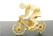Free shipping laser Nice cut Wooden model 3D puzzle assemble the bicycle kit  DIY fancy toys for children
