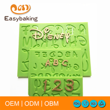 2017 New Cartoon Font Capital Lowercase Letter Number Mold Kitchen Accessories Fondant Silicone Mould Cake Decorating Tools