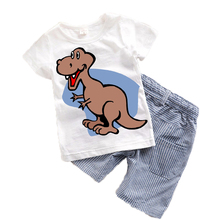 Children Kids Suits Summer 2017 New Cartoon Baby boys clothes Toddler boy clothing sets Character Kids clothes Cute Animal T15(China)