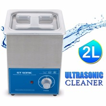 GT Sonic 2L Cleaning Jewelry Watch Cleaner Ultrasonic Bath PCB Hardware Lad Surgical Equipment Stainless Tank VGT-1620T