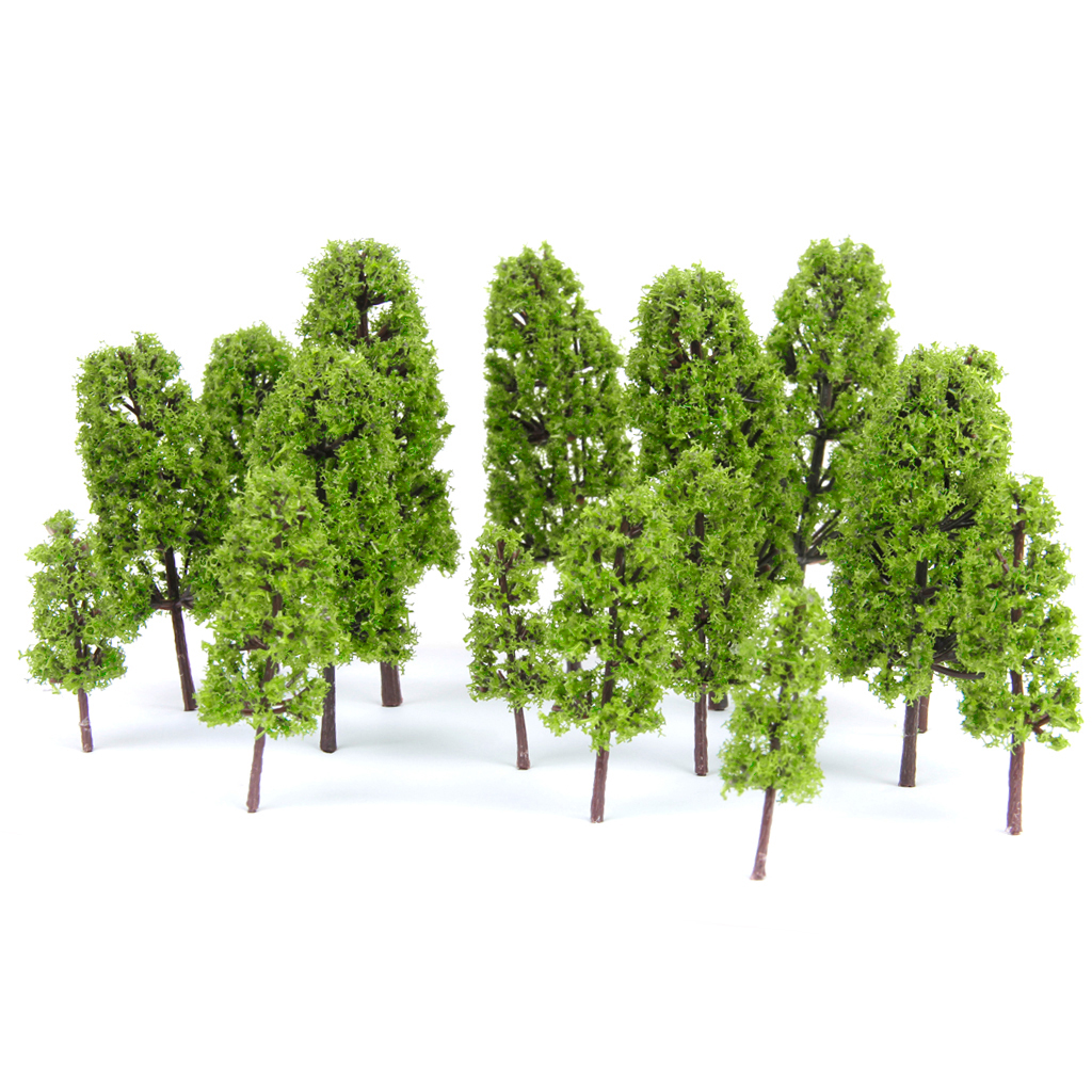High Quality 1/100-1/300 Plastics Building Layout Model Pine Trees Model Railroad/Diorama Light Green-20pcs Model Building Kits(China (Mainland))