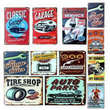 7 Styles Vintage Metal Tin Sign Car Repair Shop Garage Retro Plaque Poster Bar Pub Club Wall Tavern Garage Home Decoration