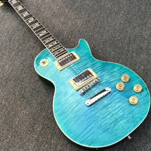 Top quality Standard LP Electric guitar Supreme Blue Flame Maple Top, Ebony Fretboard, Real photo showing, Wholesale & Retail