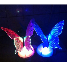 Modern and Simple Design Light Creative LED Color Changing Night Light 5W Light Control Fiber Butterfly Lamp US Plug 110 - 230V
