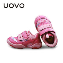 Uovo Toddler Girls Shoes Pink  Casual Sport Sneakers Outdoor Soft 2-6 Years Children Footwear Baby Kids Trainers Sapato Infantil