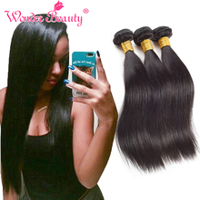 Queen Beauty Weave 7A Indian Virgin Hair Straight 3pcs 10-26 Inch Raw Indian Straight Soft Weave Bundles Human Hair Extensions