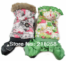 New Coming Bear  Printing Pet Dogs Winter Coat  Free Shipping By china post new clothing for dog