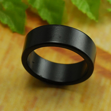 Black Strong Magnetic Magic Ring magnet coin magic tricks Finger decoration magician ring 18/19/20/21MM size 81367(China)