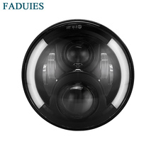 FADUIES 7 inch round Motorcycle Projector Daymaker LED Headlight With Halo & DRL &Turn light For Harley Davidson Street Glide(China)