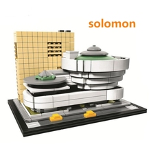 Landmark building solomon R.Guggenheim Museum Model Building Blocks Educational Children Toy Compatible with Lego(China)