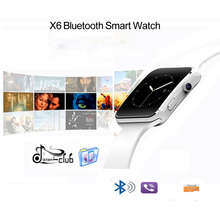 NEW HOT!Good X6 Smartwatch bracelet Phone with SIM TF Card Slot Camera for Samsung LG Sony All Android Mobile Phone Smart watch