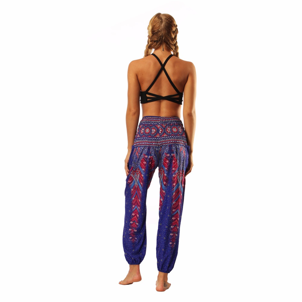TL003 Royal blue wide leg loose yoga pant legging (8)