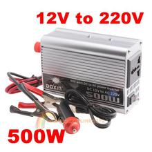 High Quality Convenient Practical 500W Watt Car Mobile Power Inverter Converter DC 12V to AC 220V Adapter Free Shipping