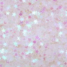 500 gram Star Glitter Sprinkle Confetti Sequin Micro Stars Fake Topping (AB Clear 3mm) Nailart Deco(China)