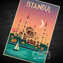 Pop Art Turkey Istanbul Travel Poster Vintage Retro Decorative DIY Wall Stickers Home Posters Art Bar Art Decoration Kids Gift