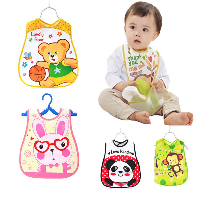 Baby Roll Bibs Adjustable Waterproof Burp Toddler Infant Cartoon Animals Washable Apron Kids Feeding Eating Smock Saliva Towel